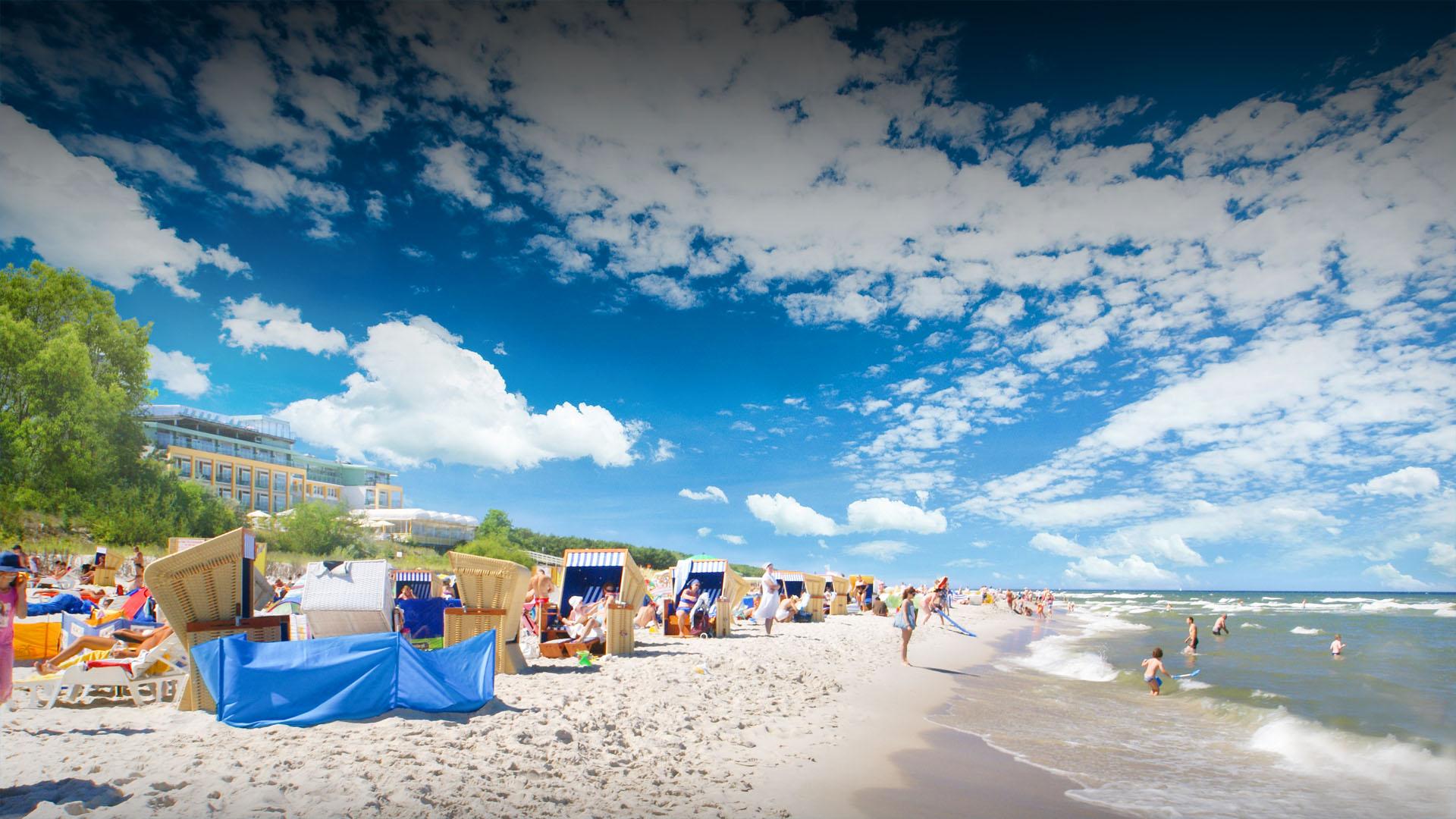 Plaża w Juracie przy hotelu Bryza